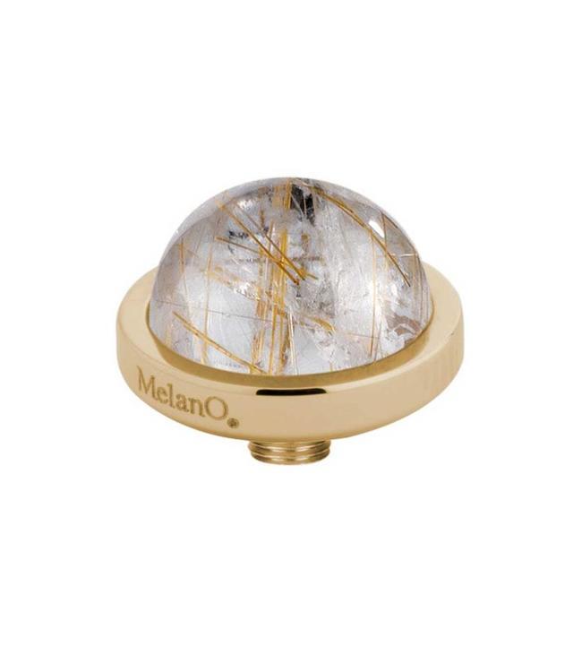 MelanO Vivid meddy gemstone, G, Rutilated quartz gold