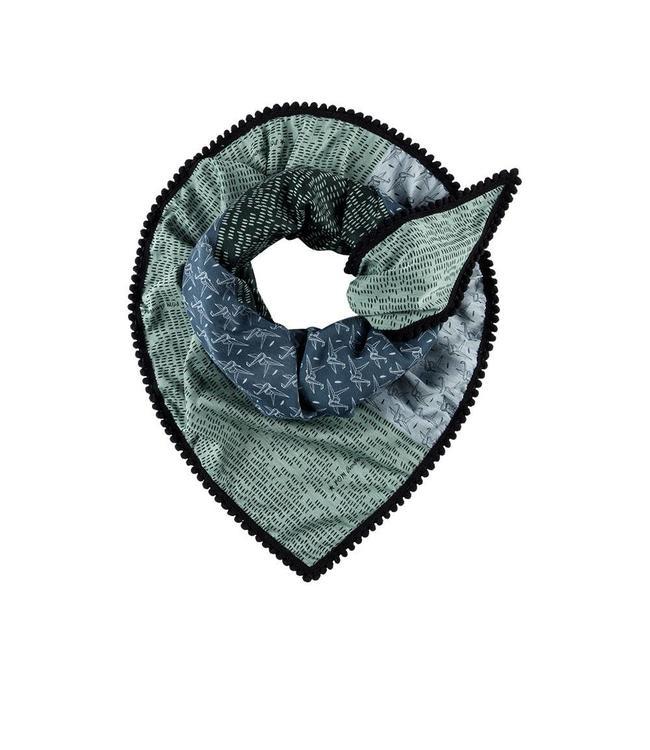 POM Amsterdam Sjaal Origami blue