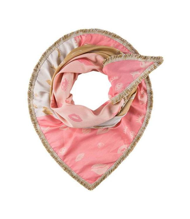POM Amsterdam Sjaal Lips and Lashes Coral 556