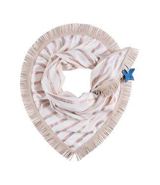 POM Amsterdam Sjaal Premium Shimmering Stripes Pink 850