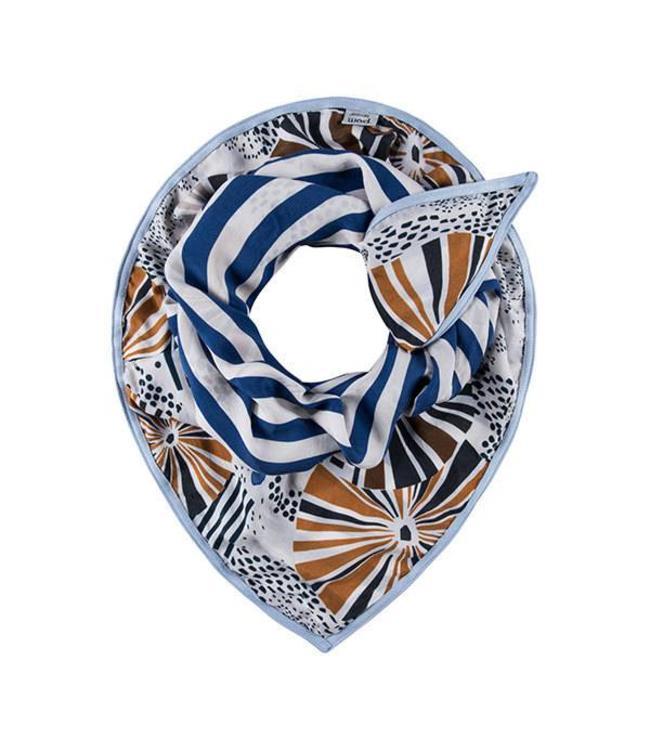 POM Amsterdam Sjaal Double Parasol Blue 815