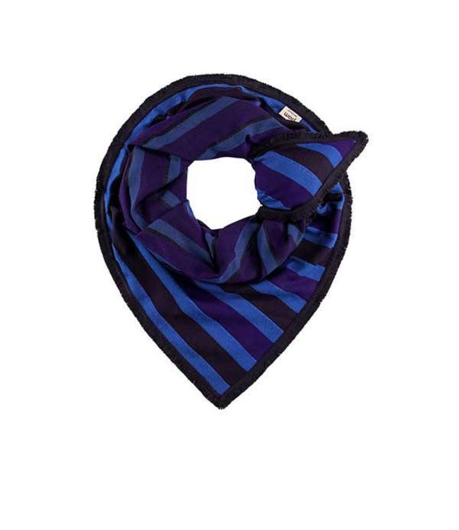 POM Amsterdam Sjaal Super stripes Sapphire