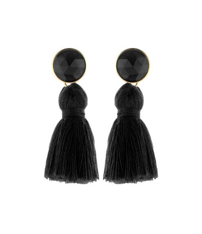Souvenirs de Pomme Oorbel Tassie All Black