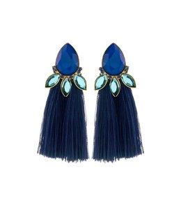 Souvenirs de Pomme Oorbel Lalique Blue