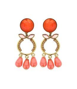 Souvenirs de Pomme Oorbel Bright Coral