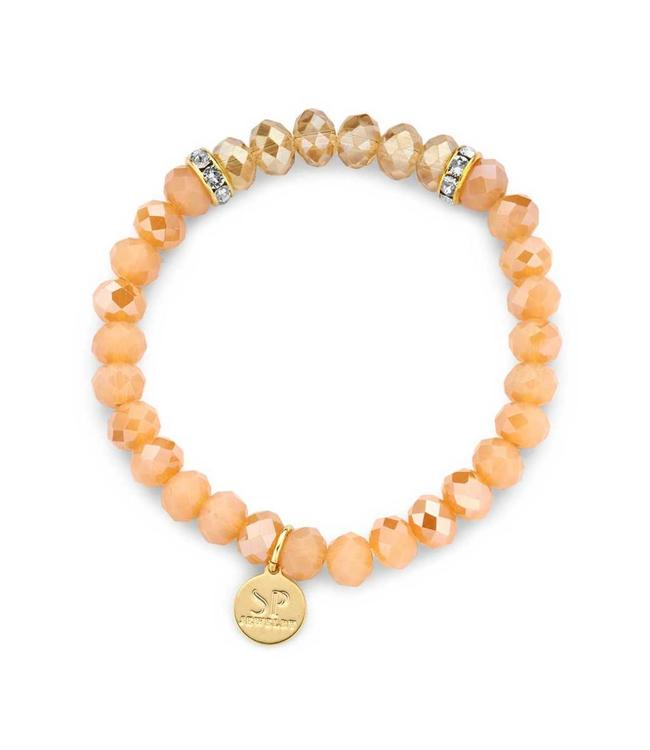 Souvenirs de Pomme Armband crystal small Coral