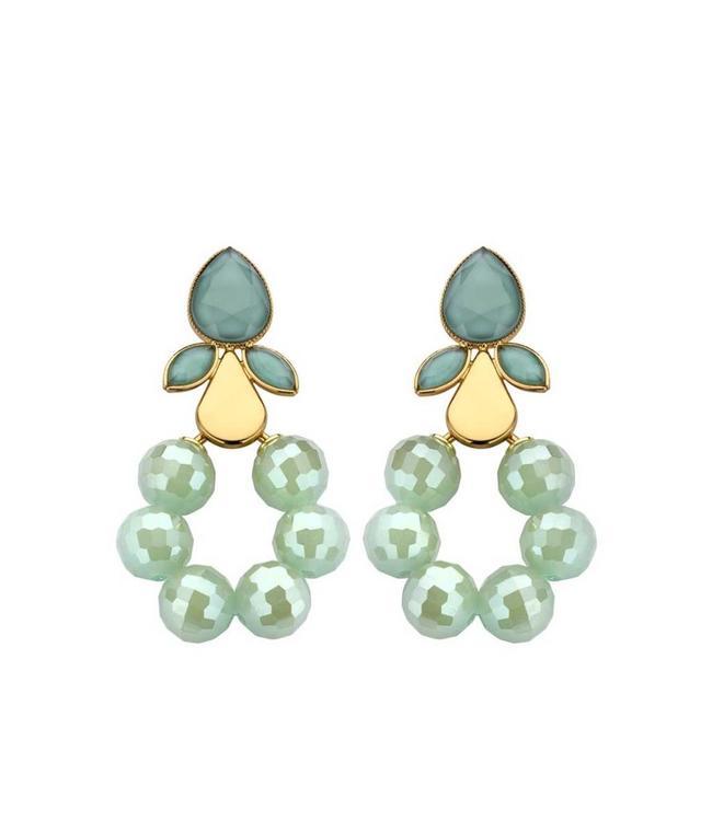 Souvenirs de Pomme Earring Chrome Mint