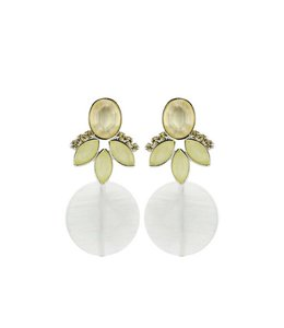 Souvenirs de Pomme Oorbel Cateye white