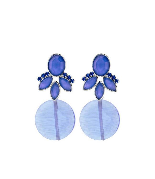 Souvenirs de Pomme Oorbel Cateye Blue