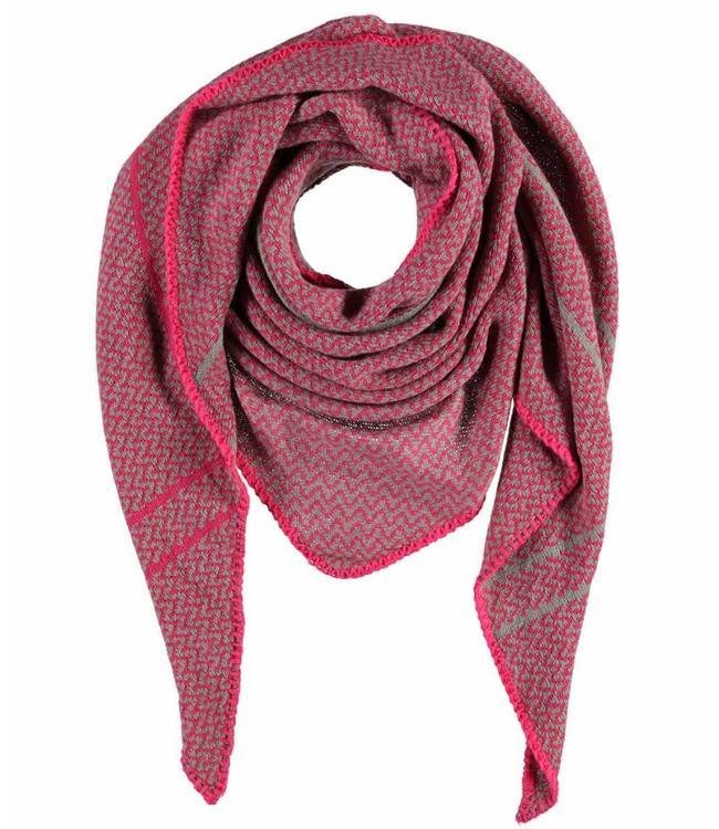 Passigatti Sjaal Grey Pink Mila