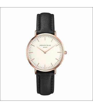 Rosefield Watch Bowery white black rosegold
