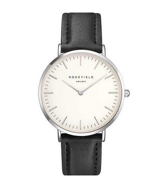 Rosefield Watch Bowery white black silver