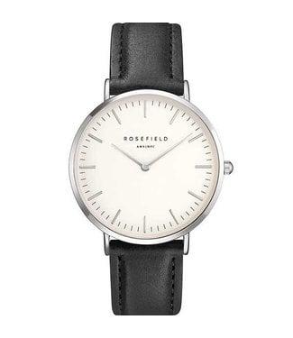 Rosefield Watch Bowery white black silver