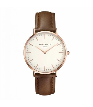 Rosefield Watch Bowery white brown rosegold