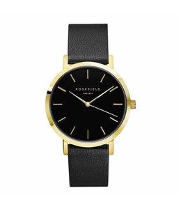 Rosefield uurwerk Gramercy black black gold