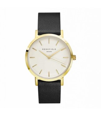 Rosefield Montre Gramercy white black gold