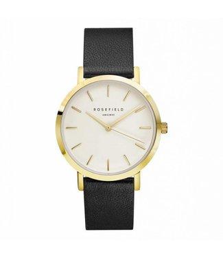 Rosefield Watch Gramercy white black gold