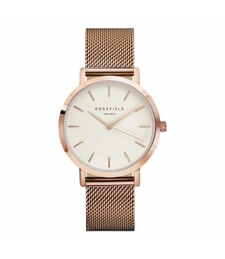 Rosefield Watch Mercer white rosegold