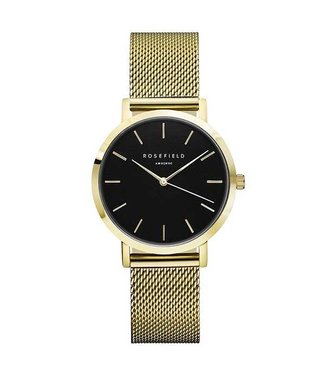 Rosefield Montre Tribeca black gold