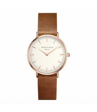 Rosefield Montre Tribeca white brown rosegold