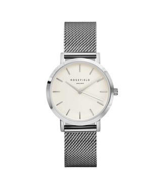 Rosefield Watch Tribeca white silver