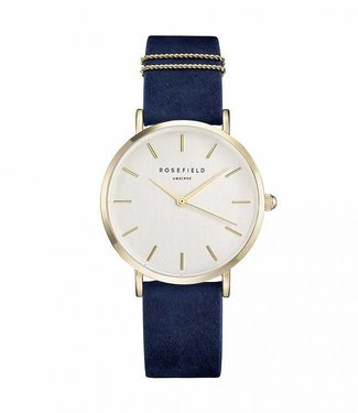 Rosefield Montre West Village Velvet Blue - Gold