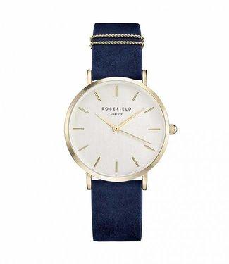 Rosefield Watch West Village Velvet Blue - Gold