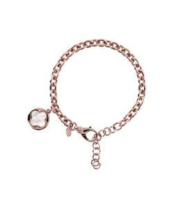 Bronzallure Armband Quadrifoglio Gemstone Charm