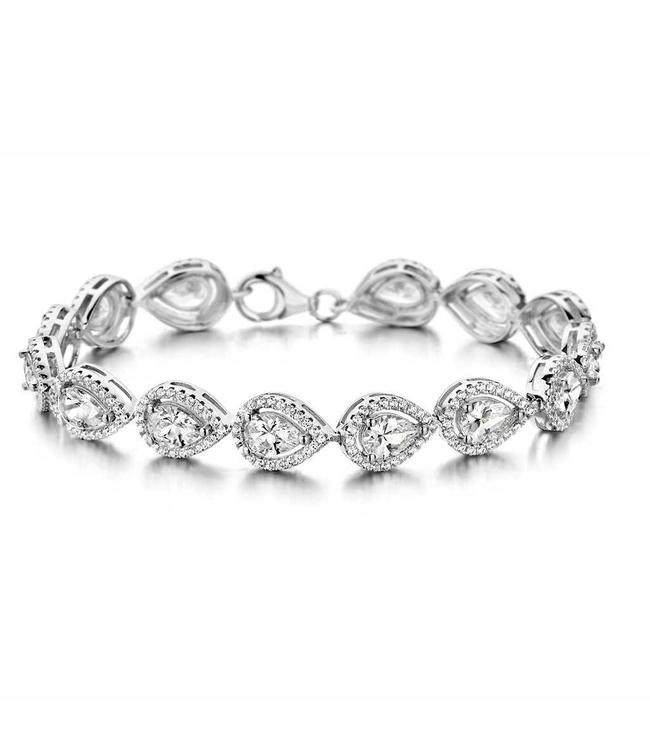 Silver Rose Armband Lauren