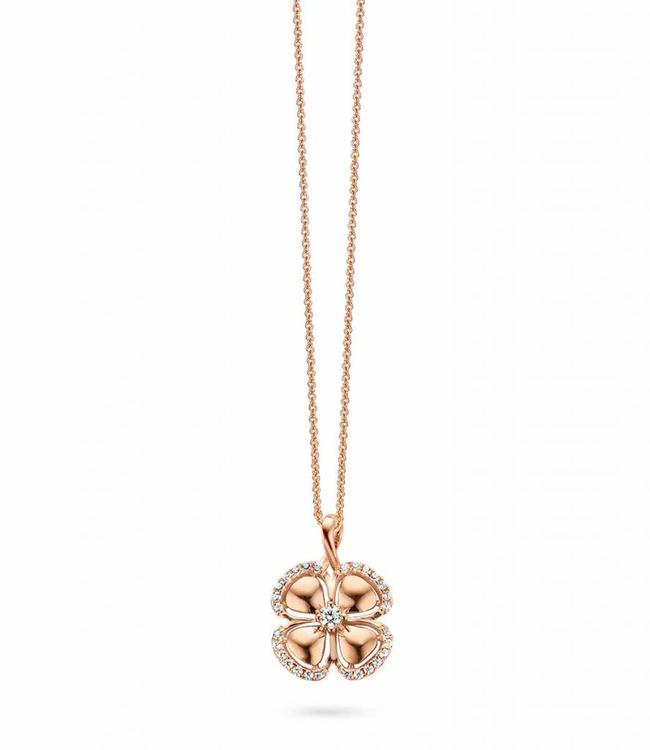 Silver Rose Halsketting golden luck