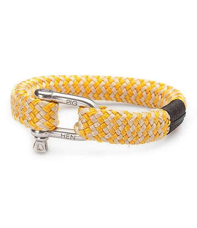 Pig & Hen Pig & Hen - armband Bombay Barry Yellow-Gold M