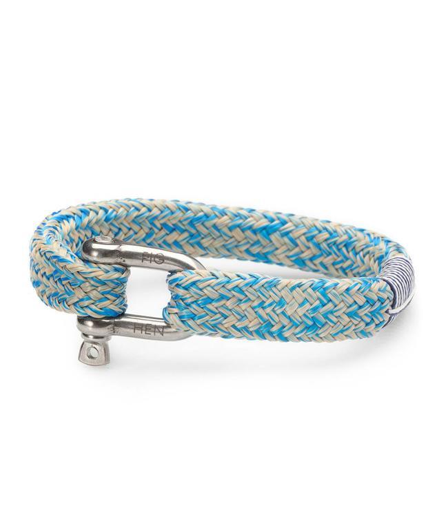 Pig & Hen Pig & Hen - armband Gorgeous George Blue-Sand L