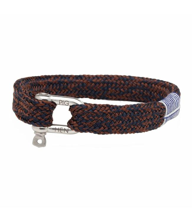 Pig & Hen Pig & hen - Armband Sharp Simon navy brown M