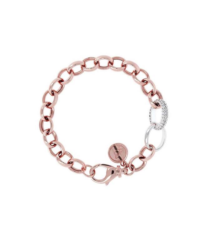 Bronzallure Armband Altissima Bracelet Solo Pave Link