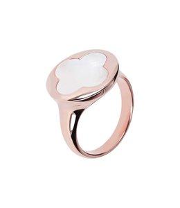 Bronzallure Ring Quadrifoglio Gemstone