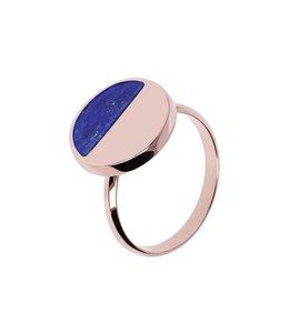 Bronzallure Ring Gemstone Disc Blue