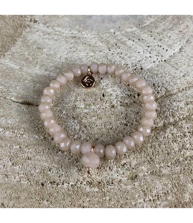 Miracles Armband Pink Matte Stones