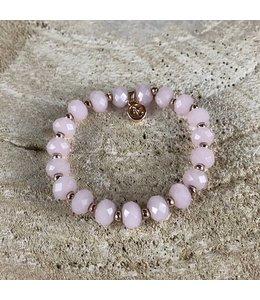 Miracles Armband Pink & Gold Stones