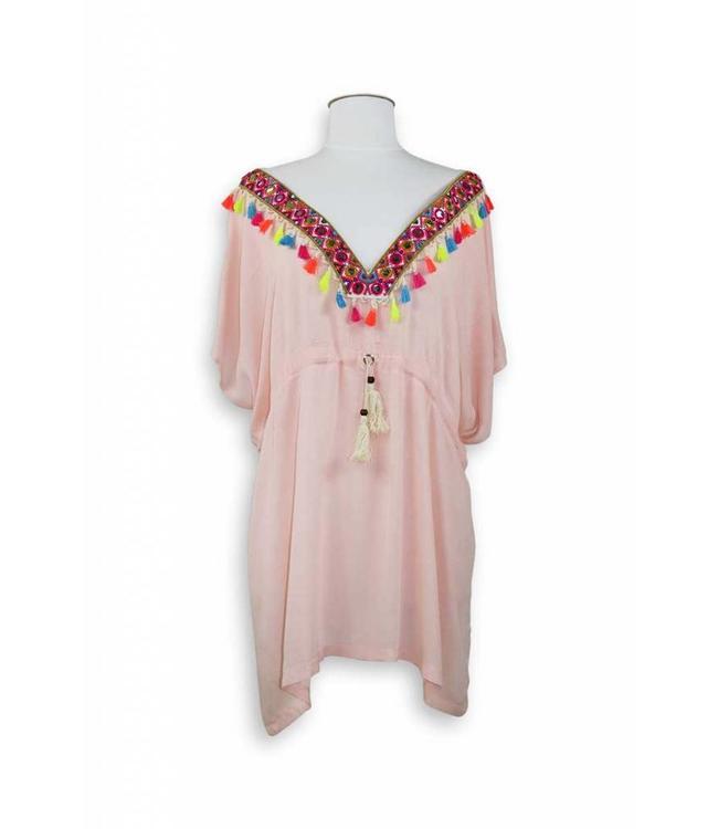 Miracles Beach dress Ibiza Pink