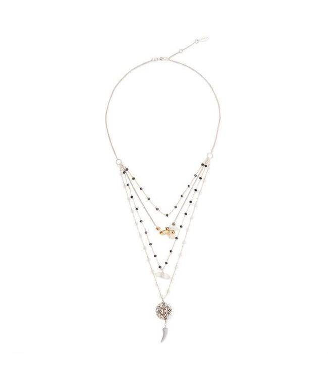 Hipanema Halsketting Takina silver/gold