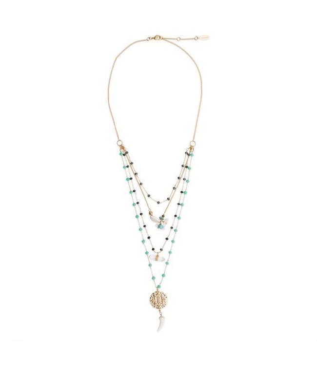 Hipanema Halsketting Takina turquoise