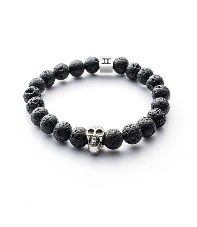 Gemini Armband Skull Black Lava