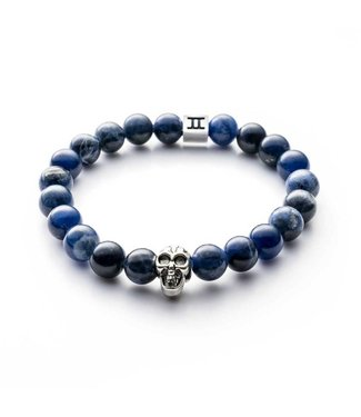 Gemini Armband Skull Blue