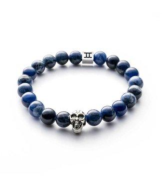 Gemini Bracelet Skull Blue