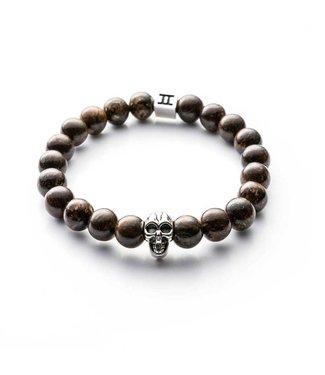 Gemini Bracelet Skull Brown M