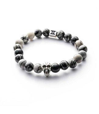 Gemini Armband Skull Grey M