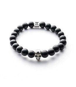 Gemini Armband Skull Mat Black M