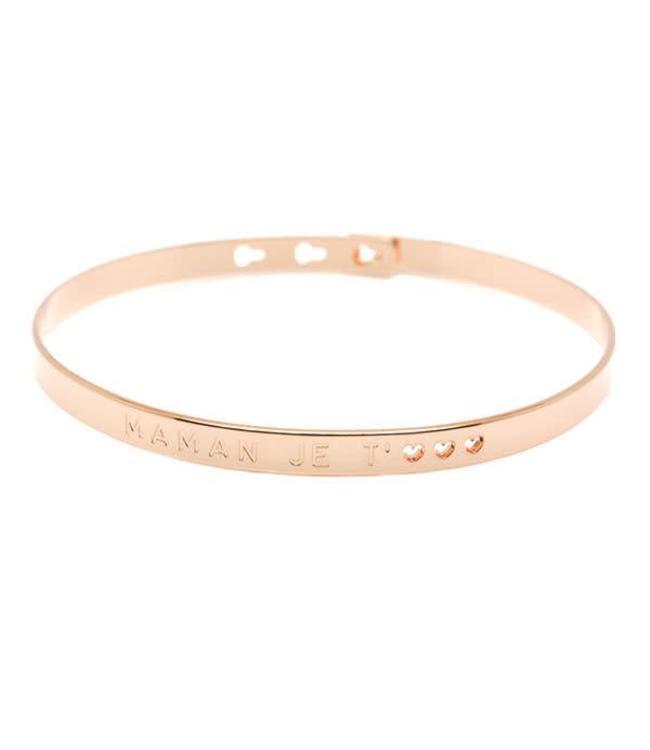 Armband Maman je t'<3 Pink Gold