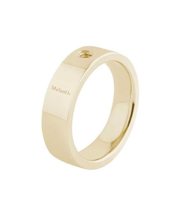 MelanO Twisted ring Tatum, Gold plated, breed