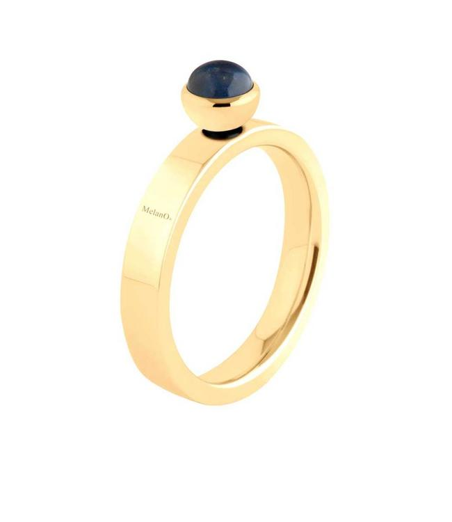 MelanO Twisted ring Tatum, Gold plated, smal